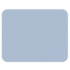 Powder Blue Stitched and Quilted Pattern Double Sided Flano Blanket (Medium)
