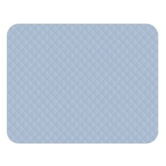 Powder Blue Stitched and Quilted Pattern Double Sided Flano Blanket (Large)