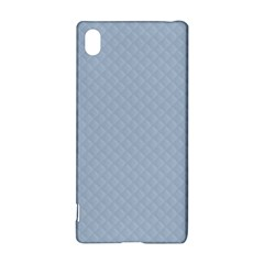 Powder Blue Stitched and Quilted Pattern Sony Xperia Z3+