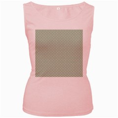 Shamrock 2-Tone Green on White St.Patrick?¯s Day Clover Women s Pink Tank Top
