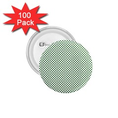 Shamrock 2-Tone Green on White St.Patrick?¯s Day Clover 1.75  Buttons (100 pack)