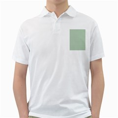 Shamrock 2-Tone Green on White St.Patrick?¯s Day Clover Golf Shirts