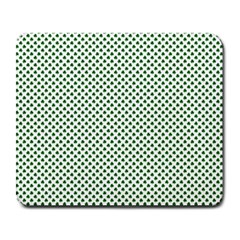 Shamrock 2-Tone Green on White St.Patrick?¯s Day Clover Large Mousepads