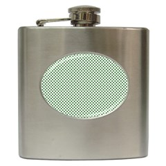 Shamrock 2-Tone Green on White St.Patrick?¯s Day Clover Hip Flask (6 oz)