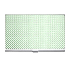Shamrock 2-Tone Green on White St.Patrick?¯s Day Clover Business Card Holders