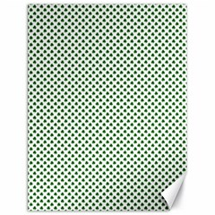 Shamrock 2-Tone Green on White St.Patrick?¯s Day Clover Canvas 18  x 24