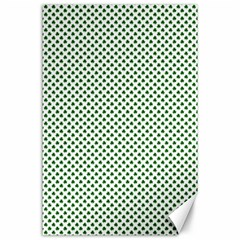 Shamrock 2-Tone Green on White St.Patrick?¯s Day Clover Canvas 24  x 36