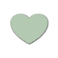 Shamrock 2 Tone Green On White St Patrick?¯s Day Clover Heart Coaster (4 Pack)