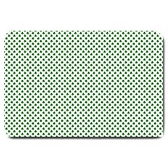 Shamrock 2-Tone Green on White St.Patrick?¯s Day Clover Large Doormat