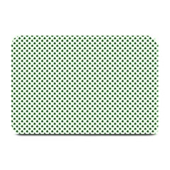 Shamrock 2-Tone Green on White St.Patrick?¯s Day Clover Plate Mats