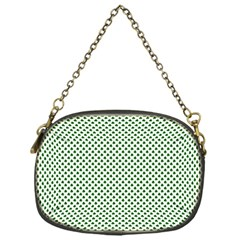 Shamrock 2-Tone Green on White St.Patrick?¯s Day Clover Chain Purses (One Side)