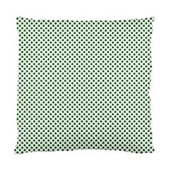 Shamrock 2-Tone Green on White St.Patrick?¯s Day Clover Standard Cushion Case (One Side)