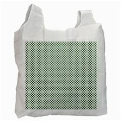 Shamrock 2-Tone Green on White St.Patrick?¯s Day Clover Recycle Bag (Two Side)