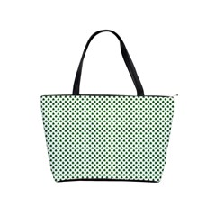 Shamrock 2-Tone Green on White St.Patrick?¯s Day Clover Shoulder Handbags