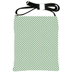 Shamrock 2-Tone Green on White St.Patrick?¯s Day Clover Shoulder Sling Bags
