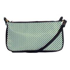 Shamrock 2-Tone Green on White St.Patrick?¯s Day Clover Shoulder Clutch Bags