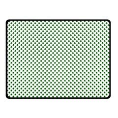 Shamrock 2-Tone Green on White St.Patrick?¯s Day Clover Fleece Blanket (Small)