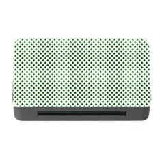 Shamrock 2-Tone Green on White St.Patrick?¯s Day Clover Memory Card Reader with CF