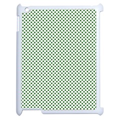 Shamrock 2-Tone Green on White St.Patrick?¯s Day Clover Apple iPad 2 Case (White)