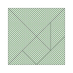 Shamrock 2-Tone Green on White St.Patrick?¯s Day Clover Acrylic Tangram Puzzle (6  x 6 )