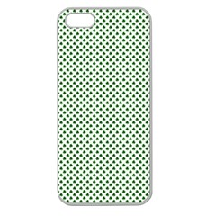 Shamrock 2-Tone Green on White St.Patrick?¯s Day Clover Apple Seamless iPhone 5 Case (Clear)