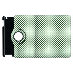 Shamrock 2-Tone Green on White St.Patrick?¯s Day Clover Apple iPad 2 Flip 360 Case