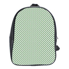 Shamrock 2-Tone Green on White St.Patrick?¯s Day Clover School Bags (XL)