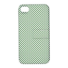 Shamrock 2-Tone Green on White St.Patrick?¯s Day Clover Apple iPhone 4/4S Hardshell Case with Stand