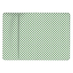 Shamrock 2 Tone Green On White St Patrick?¯s Day Clover Samsung Galaxy Tab 10 1  P7500 Flip Case