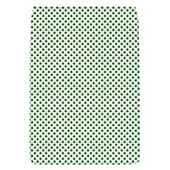 Shamrock 2-Tone Green on White St.Patrick?¯s Day Clover Flap Covers (S)