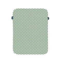 Shamrock 2-Tone Green on White St.Patrick?¯s Day Clover Apple iPad 2/3/4 Protective Soft Cases