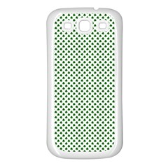 Shamrock 2-Tone Green on White St.Patrick?¯s Day Clover Samsung Galaxy S3 Back Case (White)