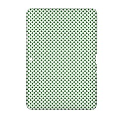 Shamrock 2-Tone Green on White St.Patrick?¯s Day Clover Samsung Galaxy Tab 2 (10.1 ) P5100 Hardshell Case