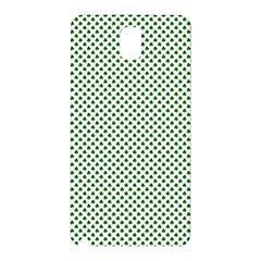 Shamrock 2-Tone Green on White St.Patrick?¯s Day Clover Samsung Galaxy Note 3 N9005 Hardshell Back Case
