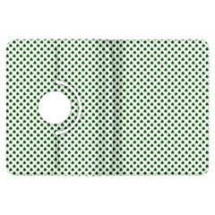 Shamrock 2-Tone Green on White St.Patrick?¯s Day Clover Kindle Fire HDX Flip 360 Case