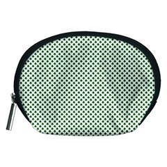 Shamrock 2-Tone Green on White St.Patrick?¯s Day Clover Accessory Pouches (Medium)