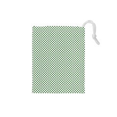 Shamrock 2-Tone Green on White St.Patrick?¯s Day Clover Drawstring Pouches (Small)