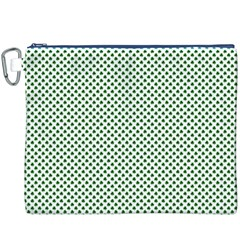 Shamrock 2-Tone Green on White St.Patrick?¯s Day Clover Canvas Cosmetic Bag (XXXL)
