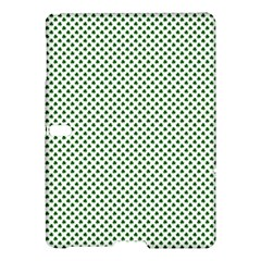 Shamrock 2-Tone Green on White St.Patrick?¯s Day Clover Samsung Galaxy Tab S (10.5 ) Hardshell Case