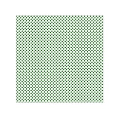 Shamrock 2-Tone Green on White St.Patrick?¯s Day Clover Small Satin Scarf (Square)