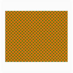 Heart-Shaped Shamrock Green on Orange St.Patrick?¯s Day Clover Small Glasses Cloth