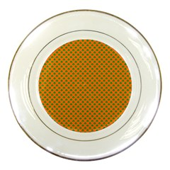 Heart-Shaped Shamrock Green on Orange St.Patrick?¯s Day Clover Porcelain Plates
