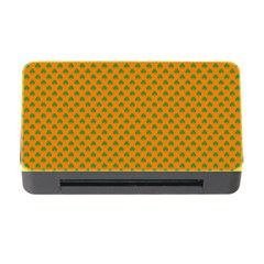 Heart-Shaped Shamrock Green on Orange St.Patrick?¯s Day Clover Memory Card Reader with CF