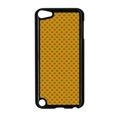 Heart Shaped Shamrock Green On Orange St Patrick?¯s Day Clover Apple Ipod Touch 5 Case (black)