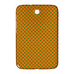 Heart Shaped Shamrock Green On Orange St Patrick?¯s Day Clover Samsung Galaxy Note 8 0 N5100 Hardshell Case