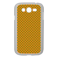 Heart-Shaped Shamrock Green on Orange St.Patrick?¯s Day Clover Samsung Galaxy Grand DUOS I9082 Case (White)