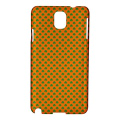Heart-Shaped Shamrock Green on Orange St.Patrick?¯s Day Clover Samsung Galaxy Note 3 N9005 Hardshell Case