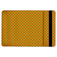 Heart-Shaped Shamrock Green on Orange St.Patrick?¯s Day Clover iPad Air Flip