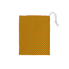 Heart-Shaped Shamrock Green on Orange St.Patrick?¯s Day Clover Drawstring Pouches (Small)