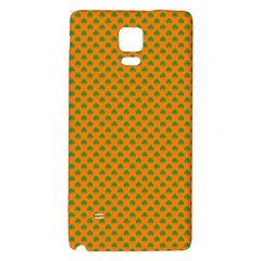 Heart-Shaped Shamrock Green on Orange St.Patrick?¯s Day Clover Galaxy Note 4 Back Case